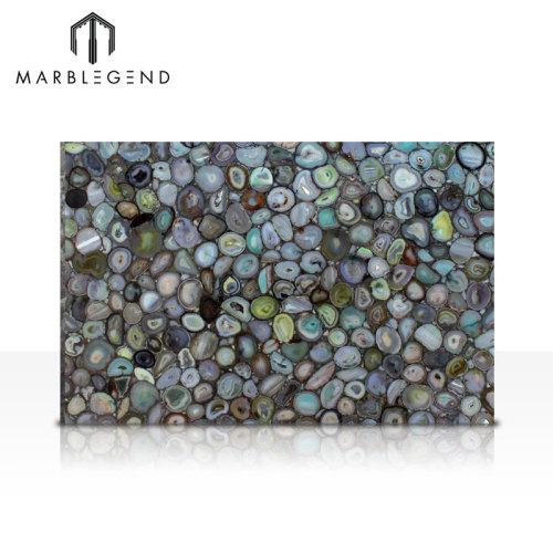 Azulejos de piedra de piedra semipreciosa de la ágata verde de lujo de gama alta