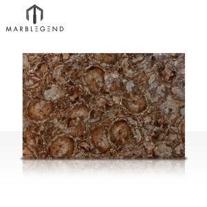 Полудрагоценные полудрагоценные камни яшмы Плитка из коричневого окаменелого дерева