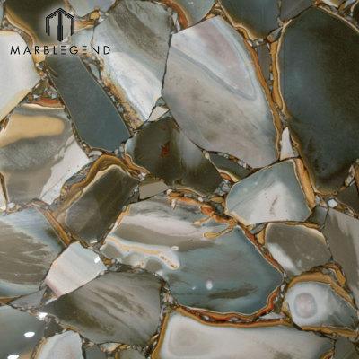 الخلفية الطبيعية شبه الأحجار الكريمة الصحراء الخضراء جاسبر الأحجار الكريمة بلاطات البلاط