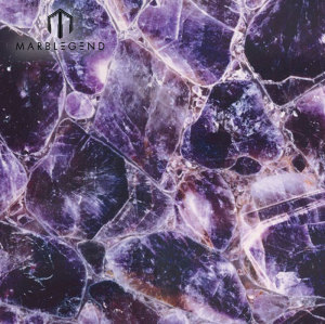 Azulejo de cuarzo retroiluminado de piedra semipreciosa de piedra de amatista extra de lujo superior