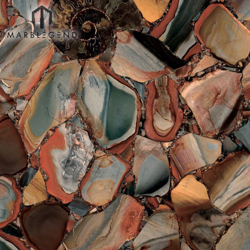 أحجار شبه كريمة ديزيرت جاسبر كلاسيك جاسبر بلايوريستون بلاطات البلاط