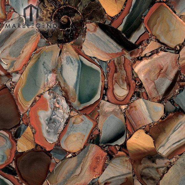 Piedras semipreciosas Desert Jasper Classic Jasper Precioustone Slabs Tiles