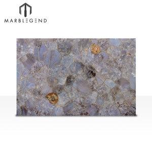 La mejor piedra preciosa para decorar paredes Azulejos de cuarzo azul