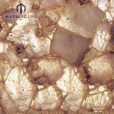 Classic Quartz Backlit White Semiprecious Stone Slabs And Tiles