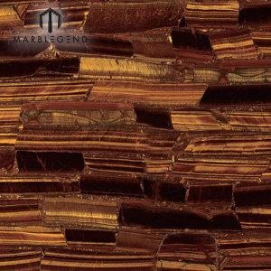 PFM Luxury Tiger Eye Золотые плиты яшмы полудрагоценный камень