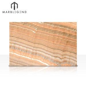 PFM Piedra natural Pulido Arco Iris Corte de vena Onyx Losa de mármol