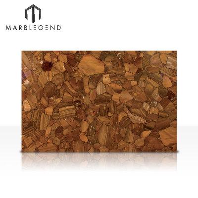 Flexible And Adaptable Surface Sole Yellow Quartz Stone Tiles
