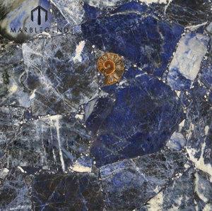 الفاخرة أعلى درجة الظلام الملكي سوداليتي حجر الكوارتز الأزرق البلاط