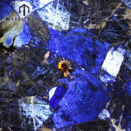 Azulejos de cuarzo de piedra azul Sodalite azul oscuro de grado superior de lujo