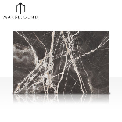 PFM Luxury Backlit Black Onyx Marble Panel Té Onyx Slabs Precio