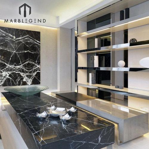 PFM Luxury Backlit Black Onyx Marble Panel Té Onyx Slabs Precio