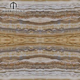 لوح ألواح الجزع بوكيميد العقيق لفندق جدار الإمبراطورية الذهب أونيكس