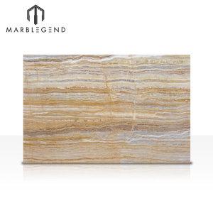 PFM Italian Elegant Beige Wood Grain Onyx Marble slab Serpeggiante Marble