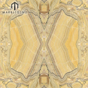 Bookmatched Wood Veins Savana Onyx Slab Yellow Onyx Marble Price
