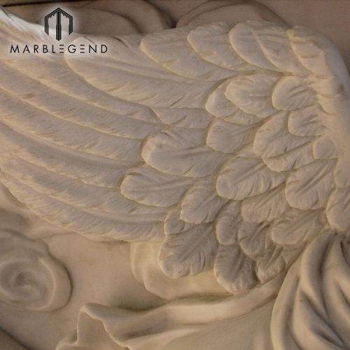 العرف تصميم ملاك الرخام الموقد رف المحيطة مع تمثال الشيروب