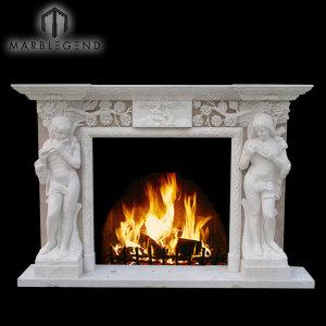 Mano sexy mujeres desnudas talladas escultura mármol piedra chimenea mantel