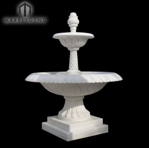 Life Middle Size Decorative Outdoor Garden White Marble Water Fountain