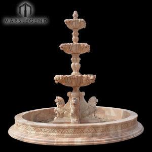 Fuente de agua de la escultura de PFM Natura Stone Marble Hand para al aire libre