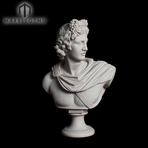 Awesome Sculpture White Marble Statue Man Bust Portrait