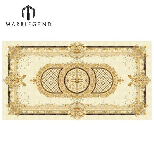 Rectangle Waterjet Waterjet Medallion Lobby Marble Floor Waterjet Patterns