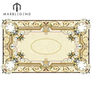 تصميم مخصص مستطيل ميدالية رخام واتيرجيت ترصيع تصميم الأرضيات