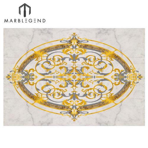 Diseño personalizado del azulejo de piso del medallón de mármol de Rocky Waterjet