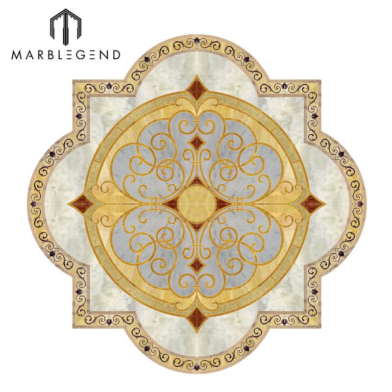 Foyer Medallion Designs : Custom new pattern design foyer marble floor medallion