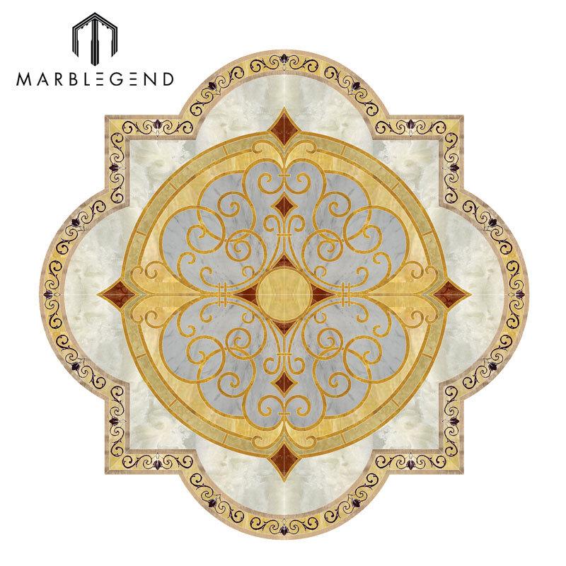 Custom New Pattern Design Foyer Marble Floor Medallion
