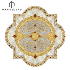 Medallón de piso de mármol del vestíbulo del nuevo diseño de diseño personalizado