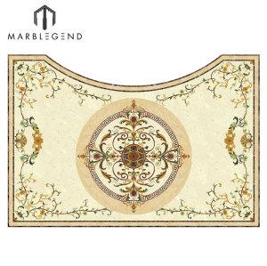 Mármol irregular del diseño del suelo del embutido de Waterjet Mosaico del medallón