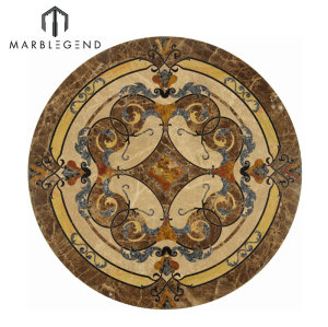 Vernazza Series Round Marble Inlay Marble Floor Medallion Tile A La Venta