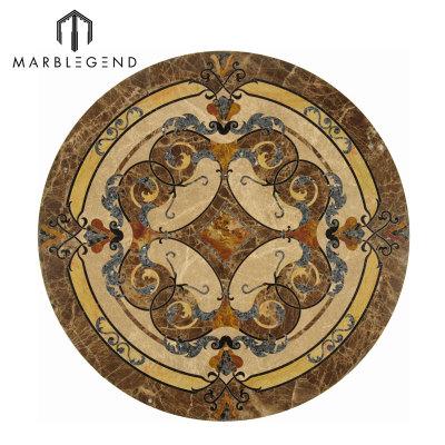 Vernazza Series Round Marble Inlay Marble Floor Medallion Tile A La Venta