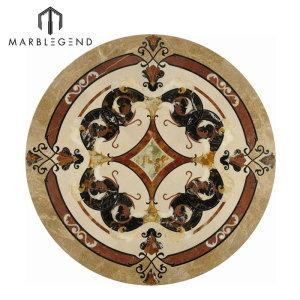 Серийная круглая мраморная плитка медальона пола PFM Vernazza для продажи
