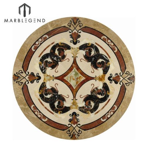 PFM Vernazza Series Round Marble Floor Medallion Tile a la venta