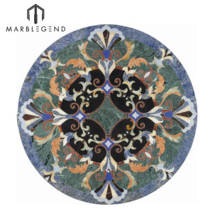 جميلة بروفانس سلسلة زهرة تصميم أرضية رخامية Waterjet ميدالية