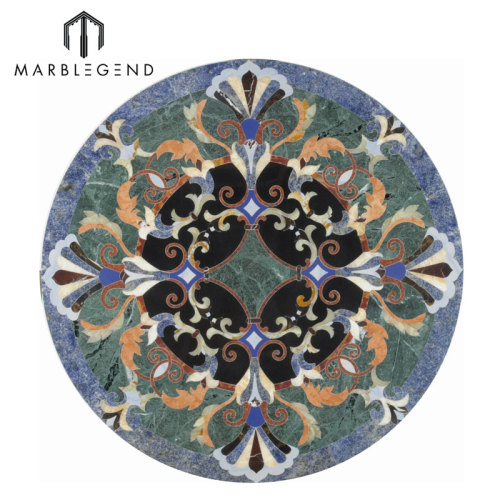 Hermosa serie Provence, diseño floral, suelo de mármol, medallón de chorro de agua