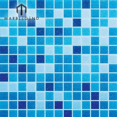 PFM هيت بركة للسباحة تصميم الزجاج الأزرق فسيفساء ورقة البلاط