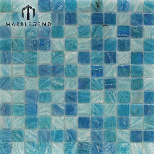 Piscina de México con cristal Mosaico de cristal Mosaico azul claro Piscina Azulejo
