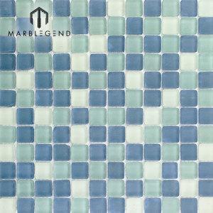Teja azul clara de la piscina del mosaico del mosaico del vidrio cristalino de PFM