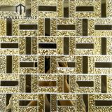 Chic Design Luxury Golden Crystal Glass Mosaic Mirror Wall Tile