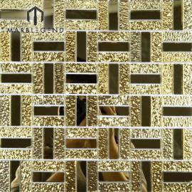 Azulejo elegante de la pared del espejo del mosaico del cristal de oro de lujo del diseño