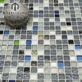 Placa para salpicaduras Diseño de azulejo Cristal Moonlight Glam Glass Mosaic Tile