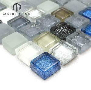 Crystal Moonlight Glam Glass Mosaic Tile for Floor and Walls