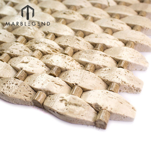 نمط جديد بلاط الحائط تصميم الحجر الطبيعي قمة جيوسيبي الرخام بلاط الموزاييك