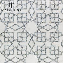 Nuevo mosaico de mosaico de piedra de mármol blanco popular del diseño para el hogar