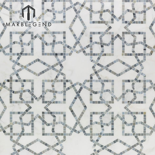 تصميم جديد شعبيّ رخام أبيض حجر موزايك قرميد لمنزل