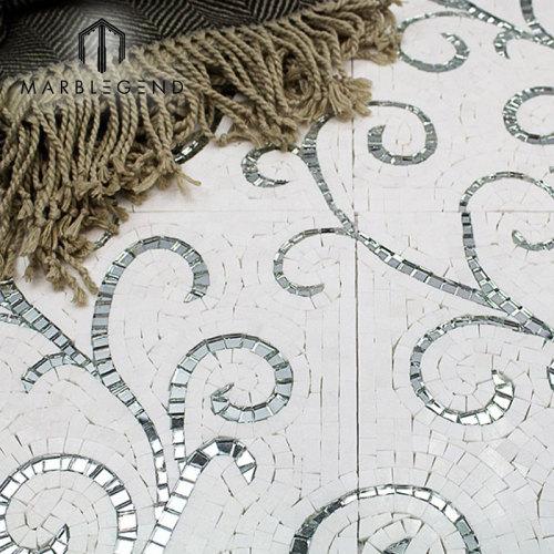 Mezcla de color Florita patrón pulido patrón mármol piedra mosaico Tlie