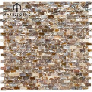 Kitchen Wall Backsplash Subway Shell Mosaic Tile Stripe Seashell Mosaic Tile