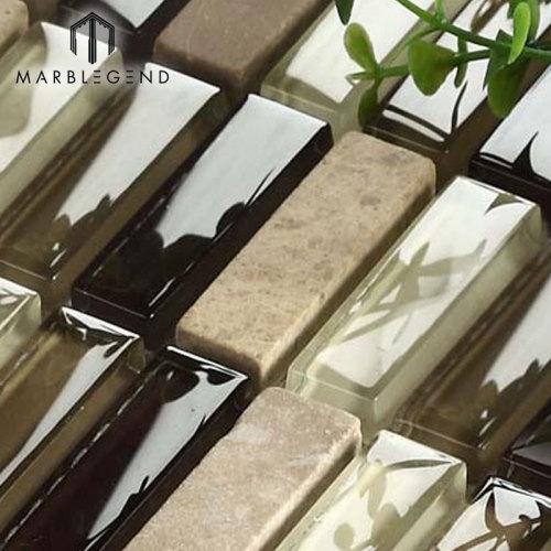 الحجر الطبيعي الرخام والبلاط والزجاج بلاط الفسيفساء المتشابكة بلاط باكسبلاش البلاط
