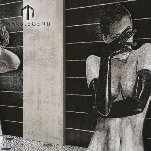 PFM مخصص الشعبية تصميم الشكل فن الزجاج فسيفساء الجدار الجداريات